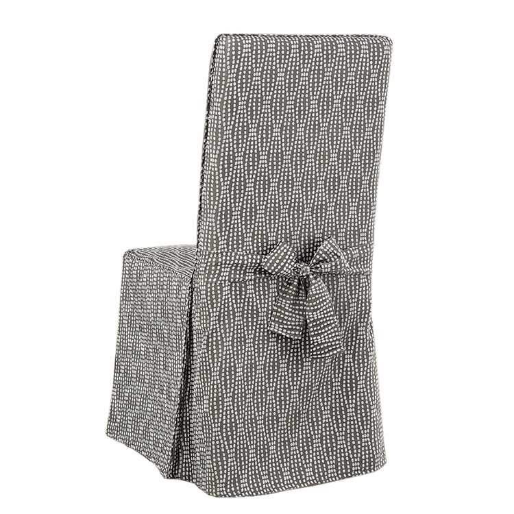 Greatex Woven Jacquard 1-piece Slipcover Dining Chair- Rain Series