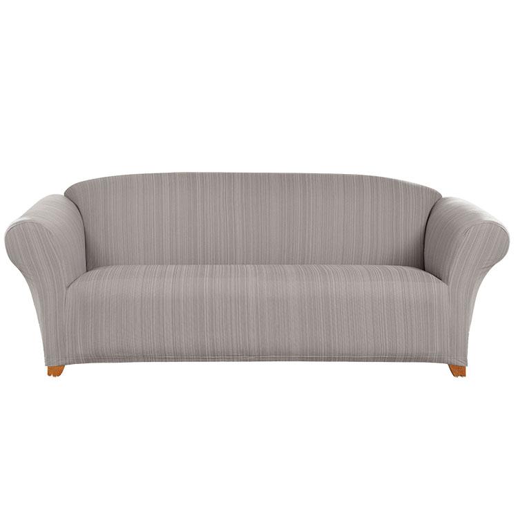 Greatex egy darabból álló, kötött Jacquard Stretch színes sarokkötésű papucs kanapé - galambszürke