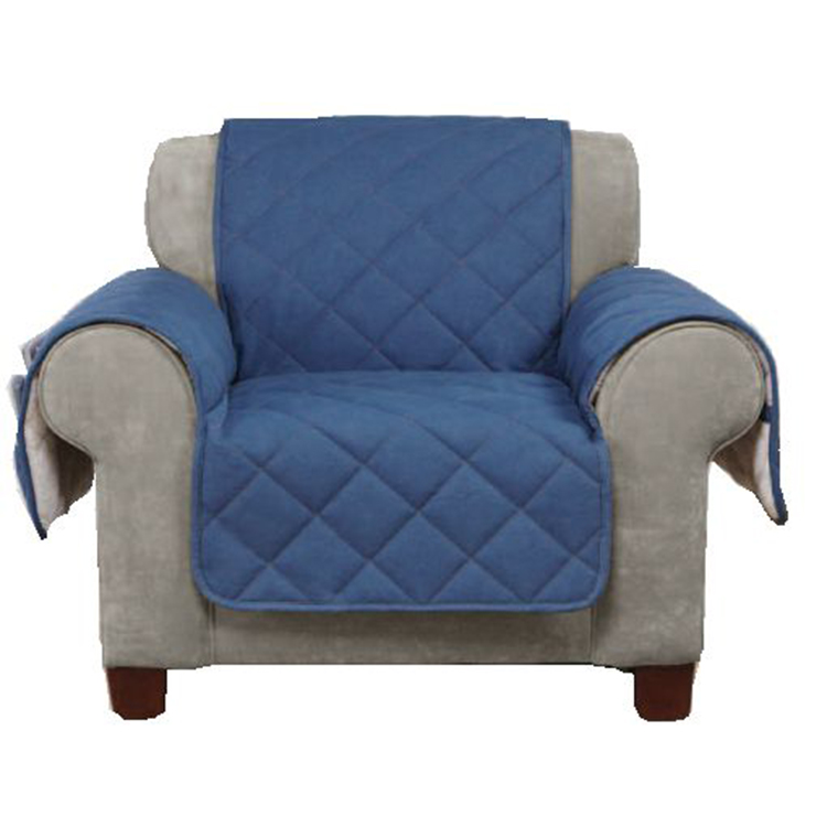Greatex Armchair Denim Pet Throw Sofa Furniture Protector for Living Room, 1-Piece Reversible Chair Pet Throw Cover-Indigo