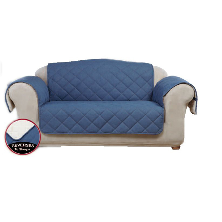 Ang Greatex Loveseat Denim Pet Throw Sofa Protektor para sa Living Room, 1-Piece Reversible Loveseat Pet Throw Cover-Indigo