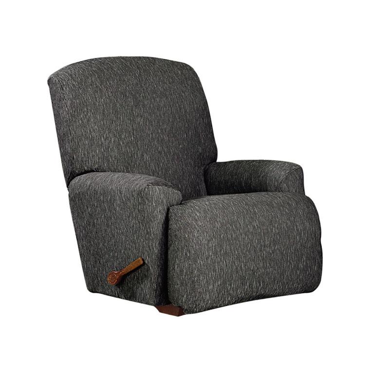 Greatex Stretch Denim fekvőfotel székhuzat, 1 darabos fekvőfotel, huzat, bútorvédő elasztikus alsó rész - fekete / indigó