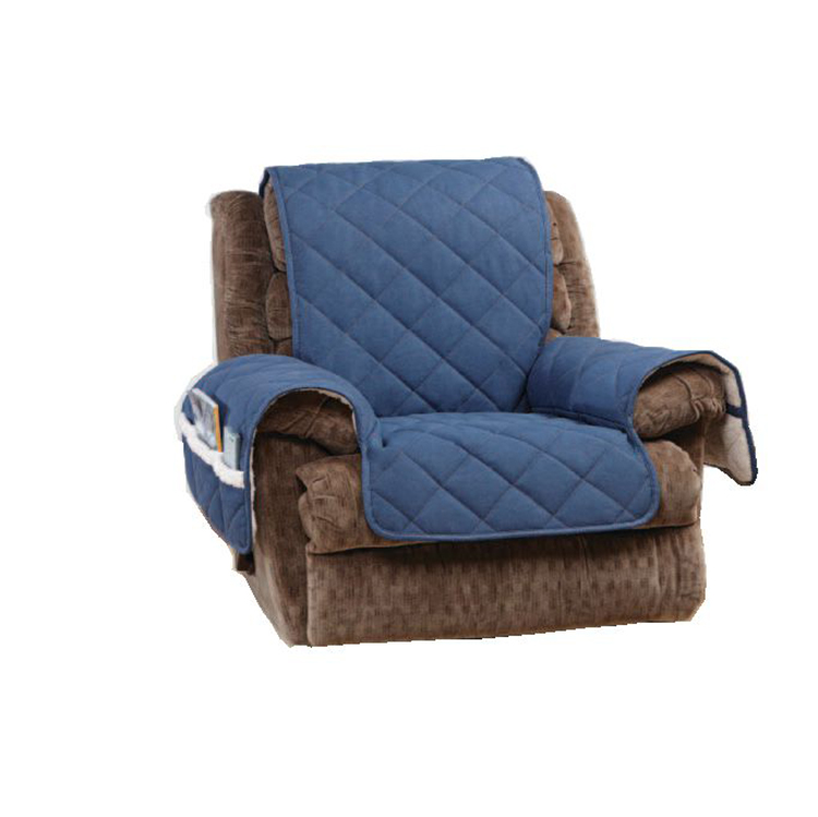 Greatex Reversible Recliner Furniture Denim Pet Throw  1-Piece Protector For Kids and Pets-Indigo