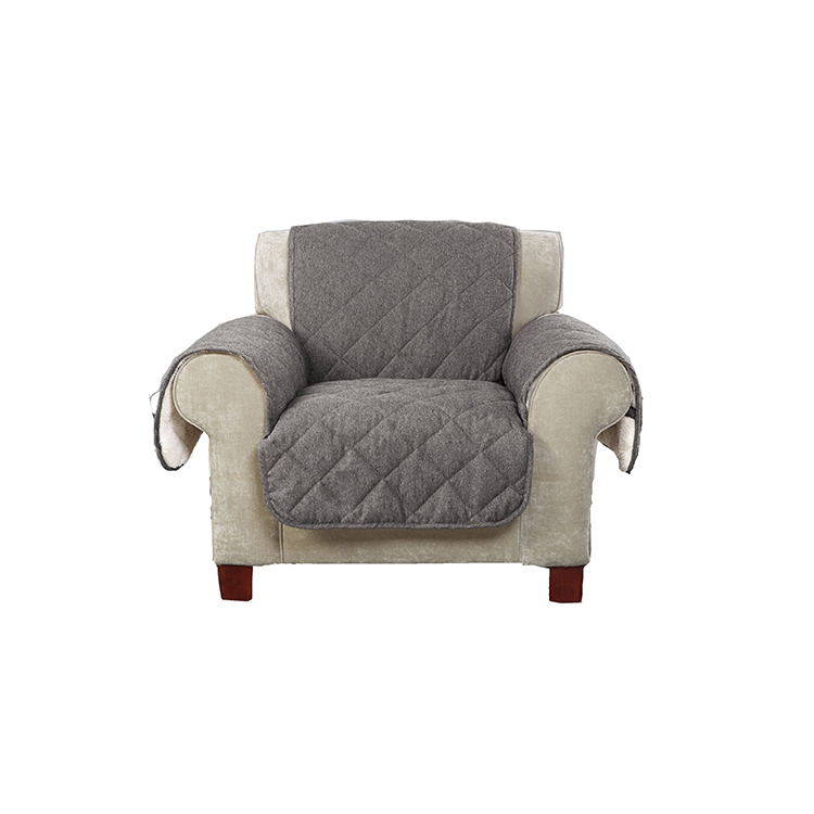 Greatex Reversible Flannel Plush Armchair Pet Throw Sofa Għamara Protettur għall-Kamra tal-Ħajja, 1 biċċa tal-Pet Throw Cover-Ċikkulata / Loden / Walnut / Gray