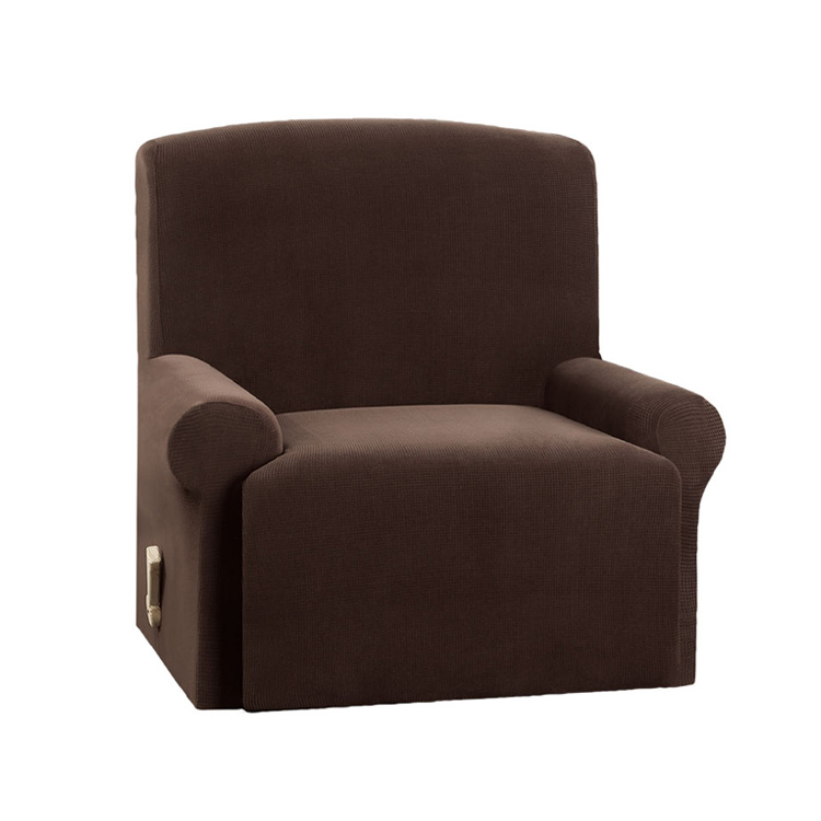 Greatex Stretch Mini Square Recliner Couch Slipcover Sofa Cover for Living Room, 1-Piece Recliner Chair Cover-Chocolate