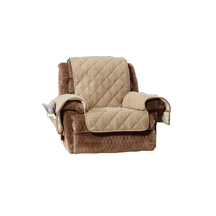 Greatex Reversible 1-Piece Recliner Furniture Pet Throw Protector For Kids and Pets -Chocolate/Gray/Walnut/Loden