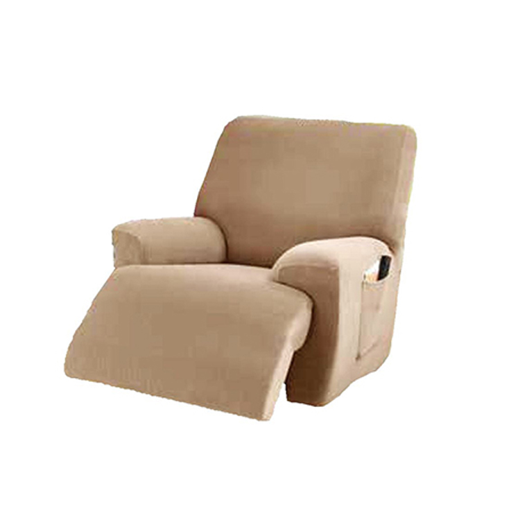 Greatex 1-Piece Stretch Mini Stripe A Slipcover Recliner Chair Protector-Brown Clay/Chocolate