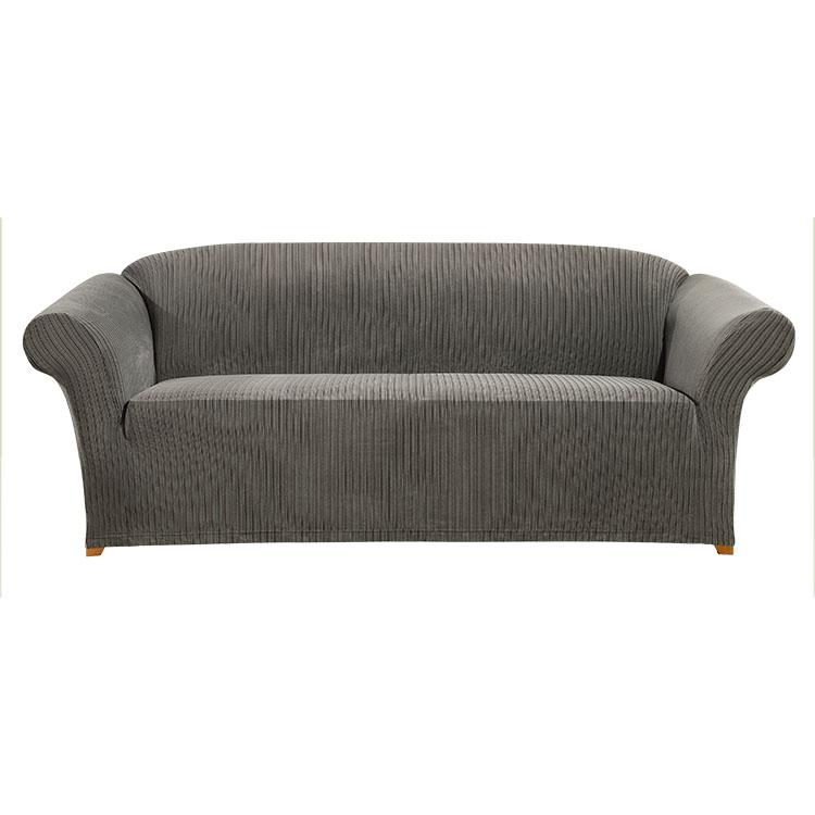 Greatex egy darabból álló, kötött Jacquard Stretch Keskeny szalagú Csúszósarjú kanapé-szürke / Indigo / Taupe