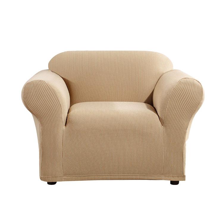 Greatex Stretch Stripe karosszék kanapé Csúszó takaró kanapéfedél, 1 darabos székhuzat-Cadeblue / Csokoládé / Ágynemű