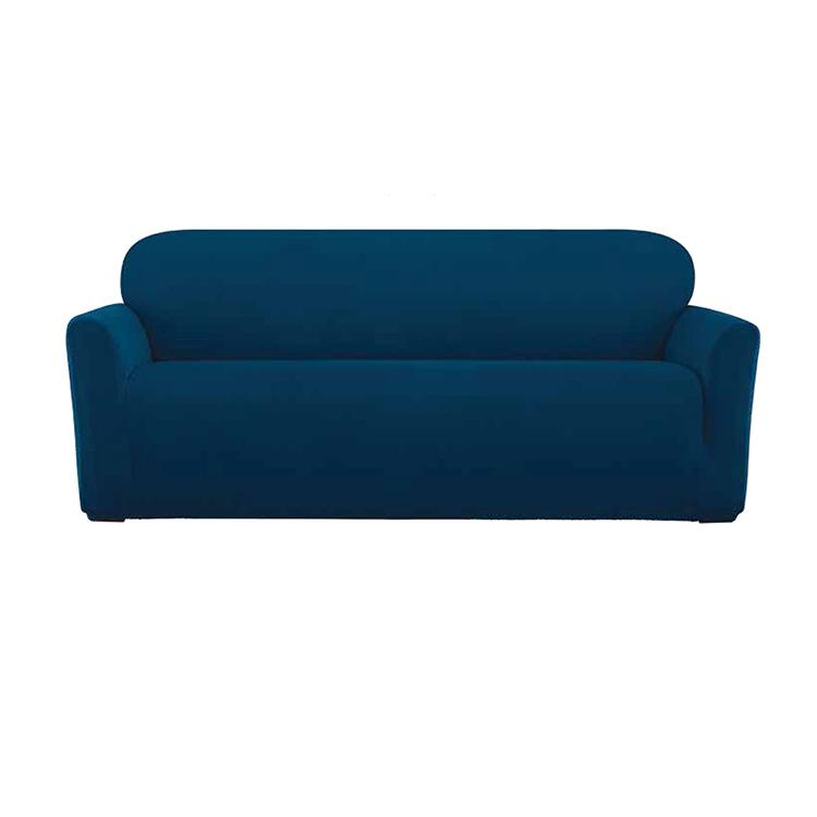 Greatex 1 հատ կտոր Knit Jacquard Stretch V Slipcover Sofa- Grey / Nileblue / Portred / Taupe
