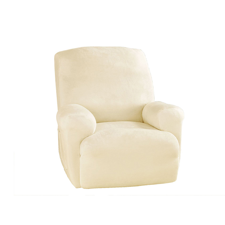 Greatex Stretch Soft Plush Recliner Couch Slipcover Sofa Cover vir woonkamer, 1-stuk stoeltjie omslag Stoelhoes-sagte Sabel / Bruin / Stormblou / sagte swart