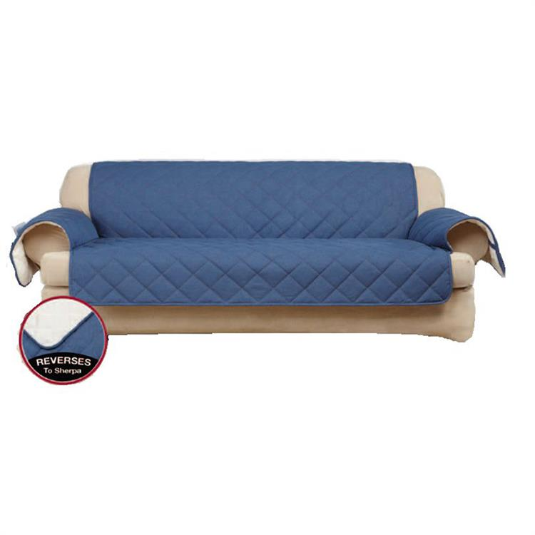 Greatex Denim Pet Throw Sofa Furniture Protector for Living Room, 1-Piece Reversible Sofa Pet Throw Cover-Indigo
